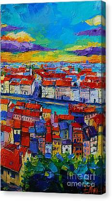 Lyon View 2 Canvas Print by Mona Edulesco