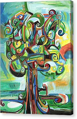 Lyrical Tree Canvas Print by Genevieve Esson