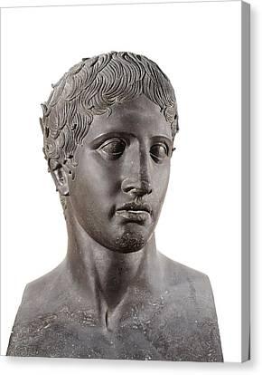 Lysippus C. 370-318 Bc. Hermes. 4th C Canvas Print by Everett