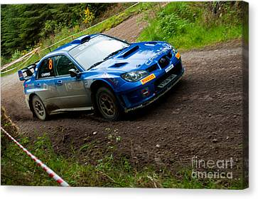 M. Cairns Driving Subaru Impreza Canvas Print by Luis Alvarenga