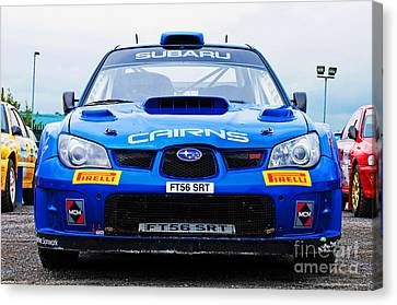 M. Cairns Subaru Impreza Canvas Print by Luis Alvarenga