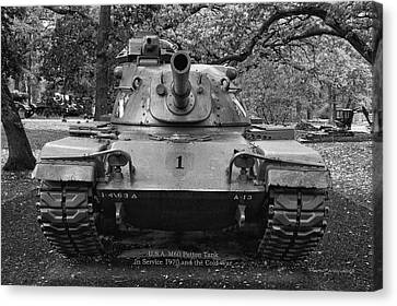 M60 Patton Tank Canvas Print by Thomas Woolworth