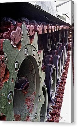 M60 Patton Tank Tread Canvas Print by Bill Owen