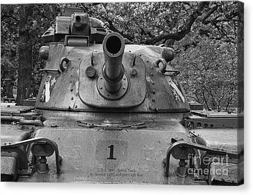 M60 Patton Tank Turret Canvas Print by Thomas Woolworth