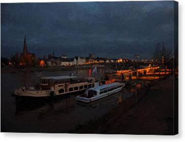 Maastricht Nine Days Before Christmas Canvas Print by Nop Briex