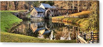 Mabry Grist Mill Panorama Canvas Print by Adam Jewell