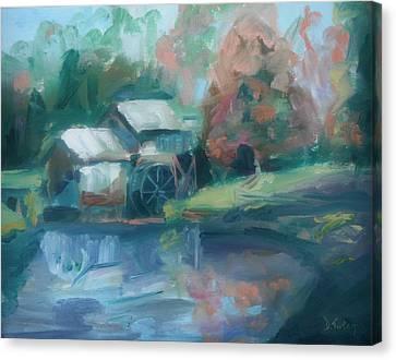 Mabry Mill Canvas Print by Donna Tuten