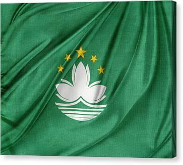 Macau Flag Canvas Print by Les Cunliffe