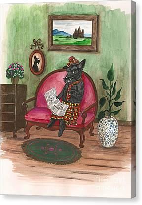 Macduff After Work Canvas Print by Margaryta Yermolayeva