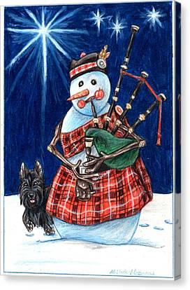 Macfrosty Canvas Print by Beth Clark-McDonal