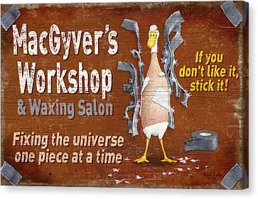 Macgyvers Workshop Canvas Print by JQ Licensing