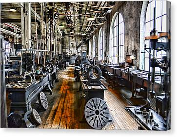 Machinist - Precision Matters Canvas Print by Paul Ward