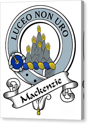 Mackenzie Clan Badge Canvas Print by Heraldry