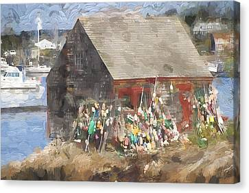 Mackerel Cove Maine Painterly Effect Canvas Print by Carol Leigh
