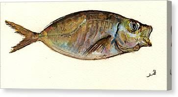 Mackerel Scad Canvas Print by Juan  Bosco