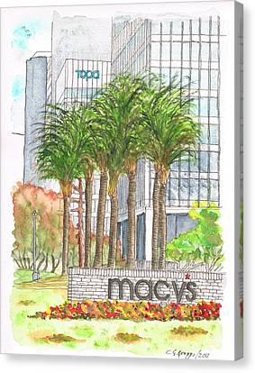 Macy's In Century City Mall - Beverly Hills - California Canvas Print by Carlos G Groppa