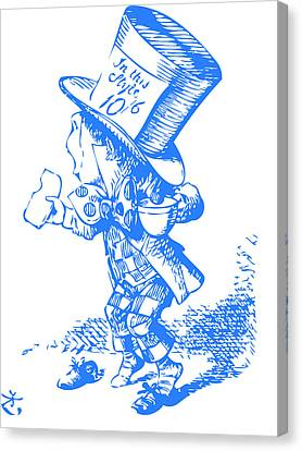 Mad Hatter Blue Canvas Print by