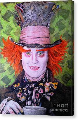Mad Hatter Canvas Print by Jessica Zint