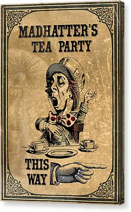 Mad Hatters Tea Party Canvas Print by Greg Sharpe