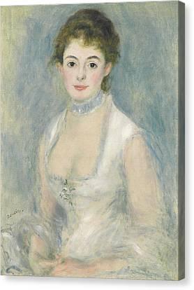 Madame Henriot Canvas Print by Pierre Auguste Renoir