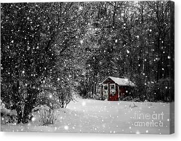 Made In Maine Winter  Canvas Print by Brenda Giasson