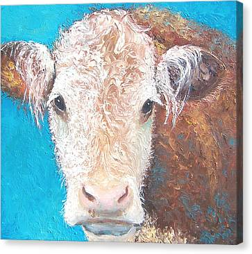Madelyn The Cow Canvas Print by Jan Matson