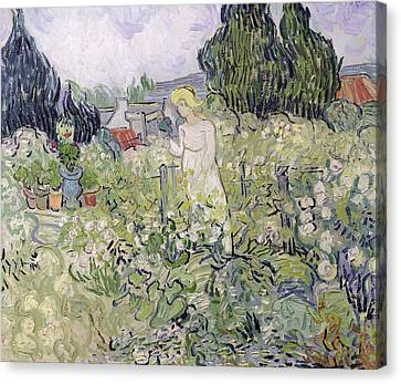 Mademoiselle Gachet In Her Garden At Auvers-sur-oise, 1890  Canvas Print by Vincent van Gogh