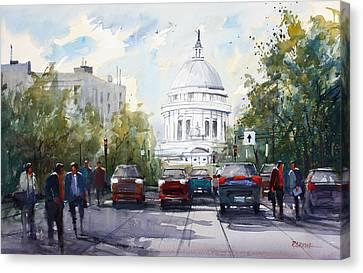 Madison - Capitol Canvas Print by Ryan Radke