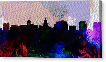 Madison City Skyline Canvas Print by Naxart Studio