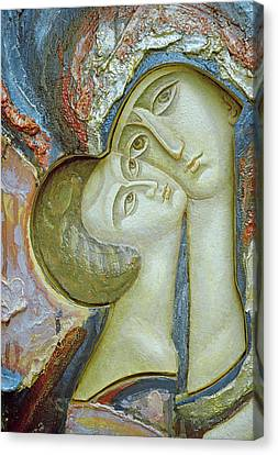 Madonna And Child Canvas Print by Alek Rapoport