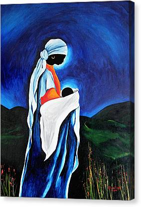 Madonna And Child - Beloved Son, 2008 Canvas Print by Patricia Brintle