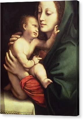 Madonna And Child Canvas Print by Bernardino Luini