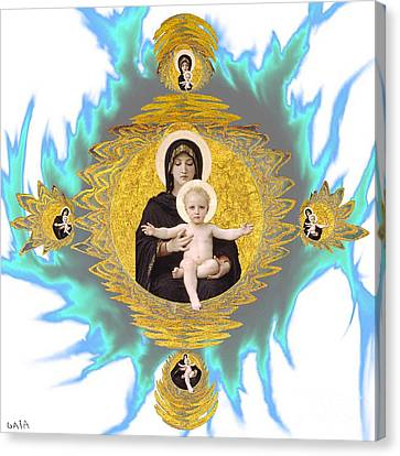 Madonna And Child Canvas Print by Gaia Ragu