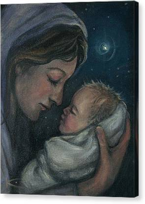 Madonna And Child Canvas Print by Kim Marshall