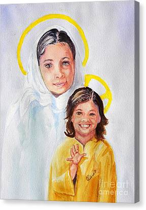 Madonna And Child Canvas Print by Susan Lee Clark