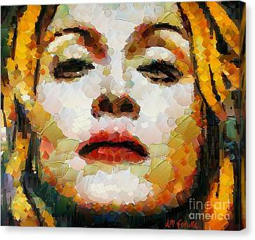 Madonna Canvas Print by Dragica  Micki Fortuna
