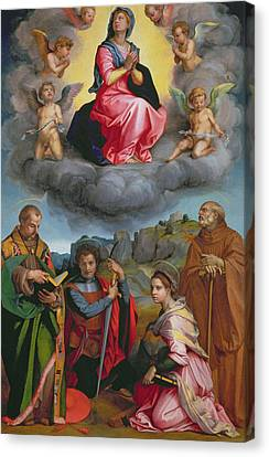 Madonna In Glory With Four Saints Canvas Print by Andrea del Sarto