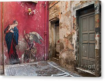 Madonna Of The Alley Canvas Print by Marion Galt