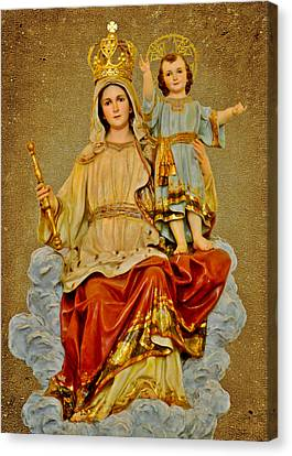 Madonna With Child Canvas Print by Christine Till