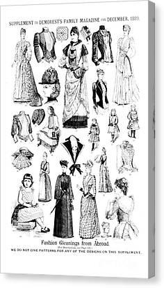 Magazine Fashion Supplement 1889 Canvas Print by Padre Art