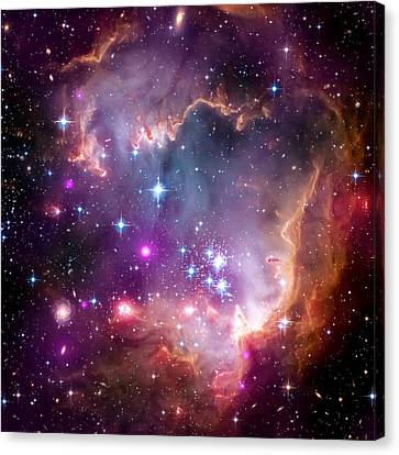 Magellanic Cloud 3 Canvas Print by The  Vault - Jennifer Rondinelli Reilly
