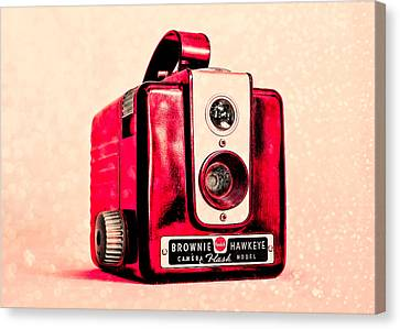 Magenta Brownie Hawkeye Canvas Print by Jon Woodhams