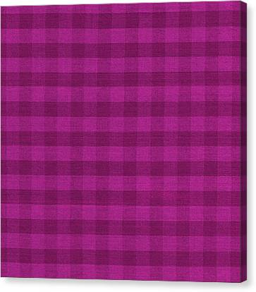 Magenta Checkered Pattern Cloth Background Canvas Print by Keith Webber Jr