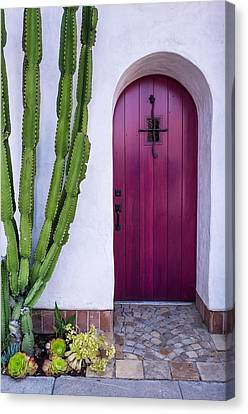 Magenta Door Canvas Print by Thomas Hall Photography
