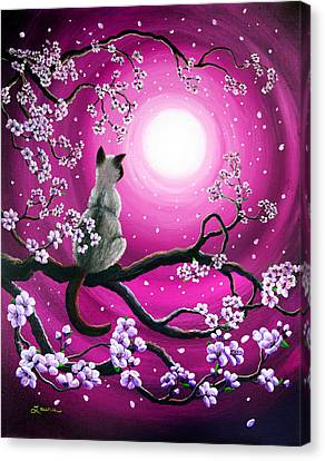 Magenta Morning Sakura Canvas Print by Laura Iverson