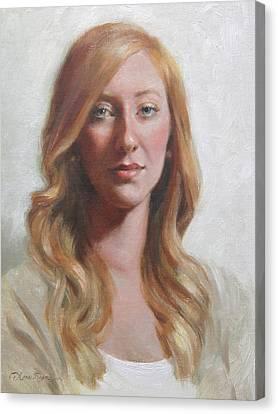 Maggie Canvas Print by Anna Rose Bain