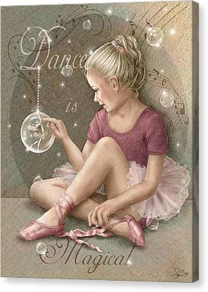 Magic Ballerina Canvas Print by Beverly Levi-Parker