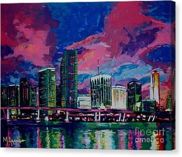 Magic City Canvas Print by Maria Arango