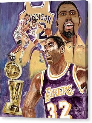 Magic Johnson Canvas Print by Israel Torres