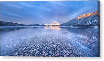 Magic Light // Lake Mcdonald, Glacier National Park Canvas Print by Nicholas Parker